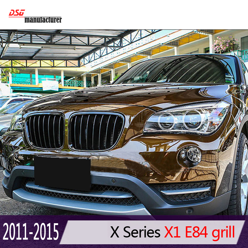 17f66f78b6aa X1 e84 black abs front bumper grill for bmw x1 2010 2015 18i xDrive sDrive  20i 25i 28i 35i 16d 18d 20d-in Racing Grills from Automobiles   Motorcycles  on ...