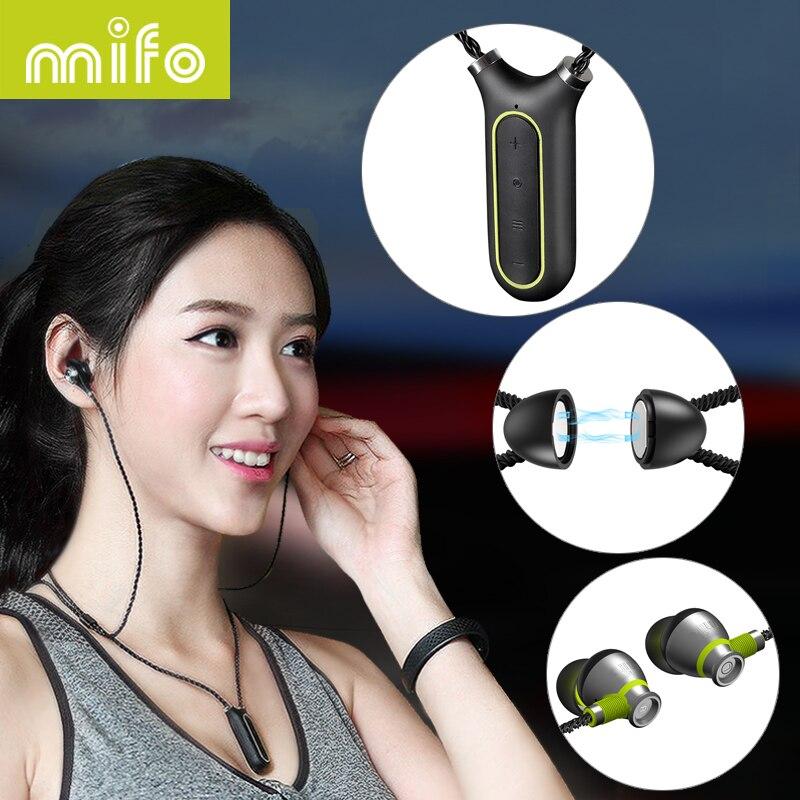 Mifo i2 Collier Sans Fil Écouteurs de Sport Bluetooth Casque Étanche Subwoofer Stéréo Lecteur Mp3 Neckband Écouteurs Enregistrement Stylo
