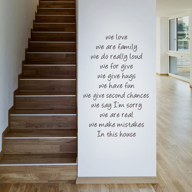 Very best Hotsale Removeable Staircase Stiker English Words Waterproof Stair  VC15