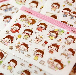 10 Pcs/lot Little Girl Mini Paper Sticker Diy Decoration Sticker For Album Scrapbooking Diary Kawaii Stationery