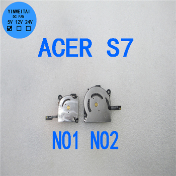 90%NEW CPU GPU for Acer Aspire S7 S7-391 S7-191 S7-392 4006-4A/6718 K126000360F EG50040S1-C171-S99 DC5V 4Pin Laptop Cooling Fan fr french keyboard for acer s7 s7 391 s7 392 ms2364 silver backlit keyboard fr layout