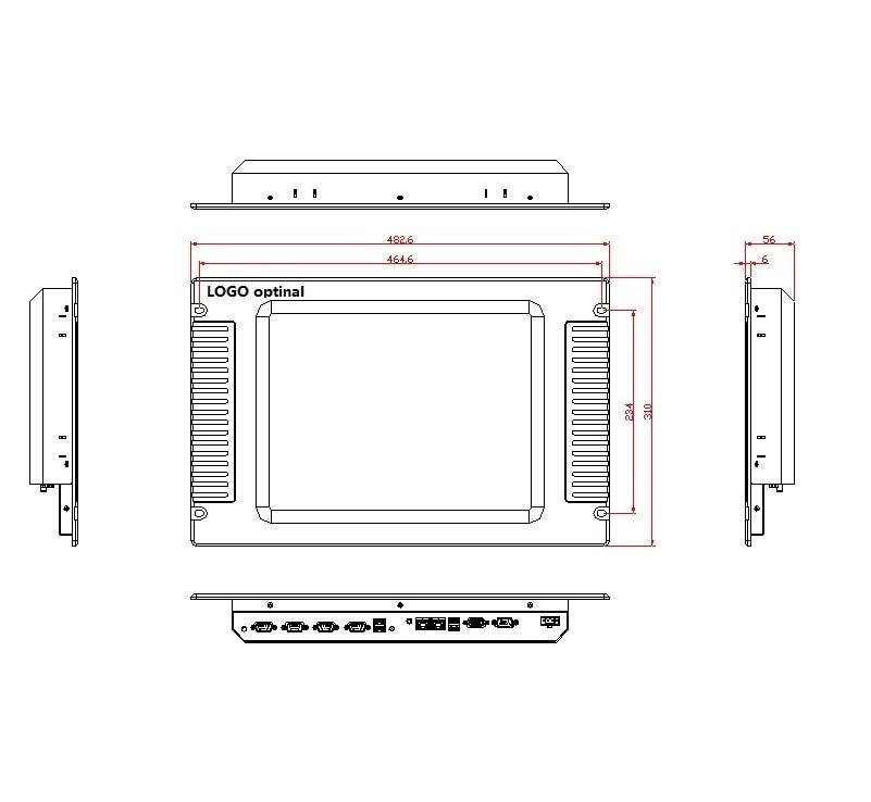 15 colių stovo tvirtinimo pulto kompiuteris, be ventiliatoriaus, - Pramoniniai kompiuteriai ir priedai - Nuotrauka 3