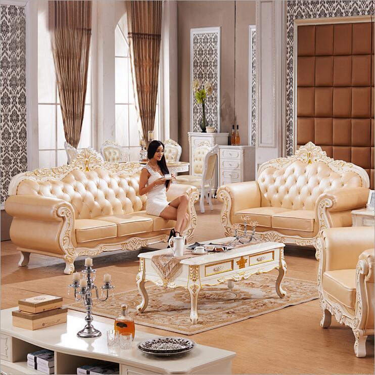 Living Room Modern Leather Sofa European Sectional Sofa 1055