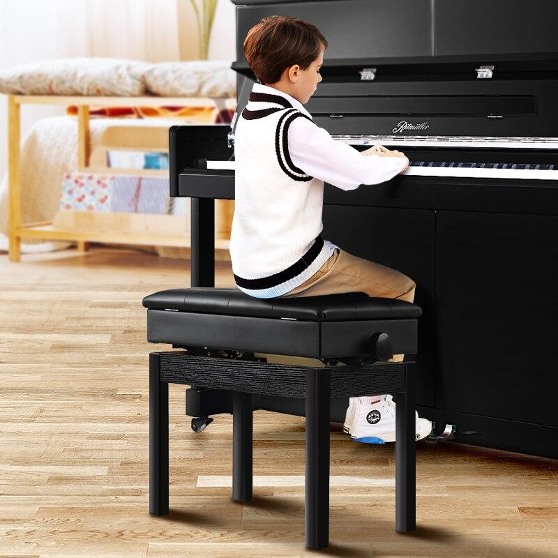 Glorioso Taburete De Piano De Un Solo Elevador Doble Taburete De Piano De Madera Maciza Teclado Banco Silla De Teclado 100% Original