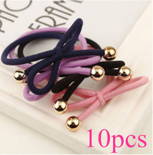 10pcs/lot Elastic Nylon Headband Girls and Kids Mixed Color Hairband Hair Accessories Random Color Hot Selling -35(China)