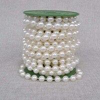 10 mt Künstliche Perlen Perlen Kette Kranz Blumen Hochzeit tischdekoration Braut Bouquet diy Dekoration Ereignis Partei Liefert