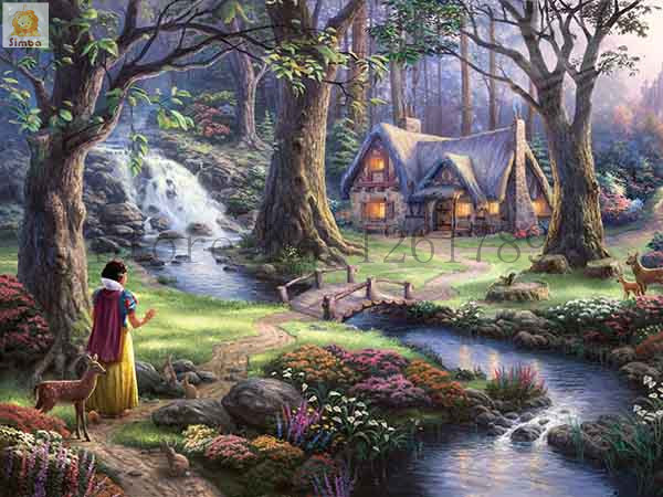 Needlework Resin Square DIY 5D Diamond Painting Cross Stitch Kits Full Embroidery Summer Cottage Garden Pattern