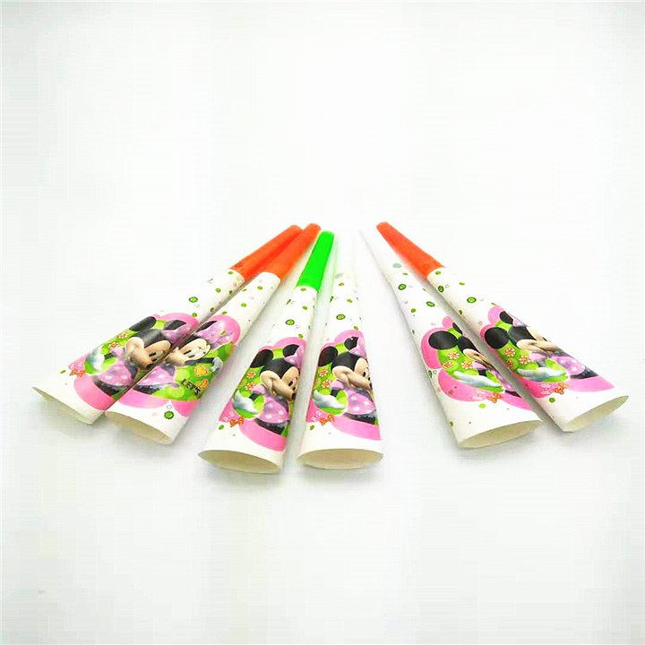 US $1 79  6pcs/lot teenage Minnie mouse themed trumpets event party  birthday supplies horn make the party have much fun-in Noise Makers from  Home &