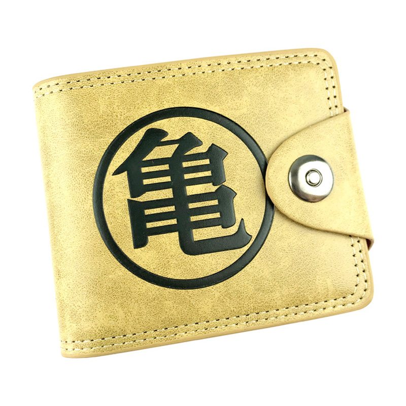 Fashion Leather Short Purse Japanese Cartoon Anime Dragon Ball Z Embossing LOGO Wallets carteira Folded Men Wallet with Coin Bag