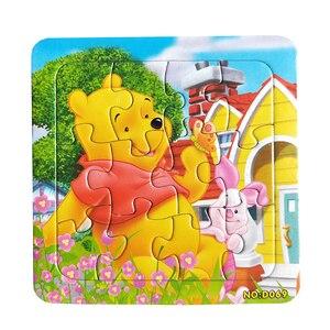 Image 4 - Puzzle cyfrowy papier słynny rysunkowy puchatek edukacyjne zabawki dla dzieci 9/12/16 sztuk Puzzle gra darmowa wysyłka zabawki dla dzieci