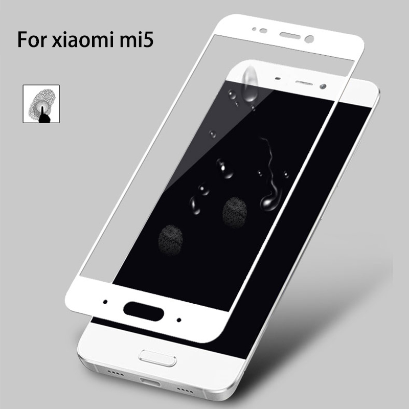 POMER For xiaomi mi5 Screen Protector 9H 2.5D Tempered Glass Full screen coverage Back Cover HD Anti shock Film protective film