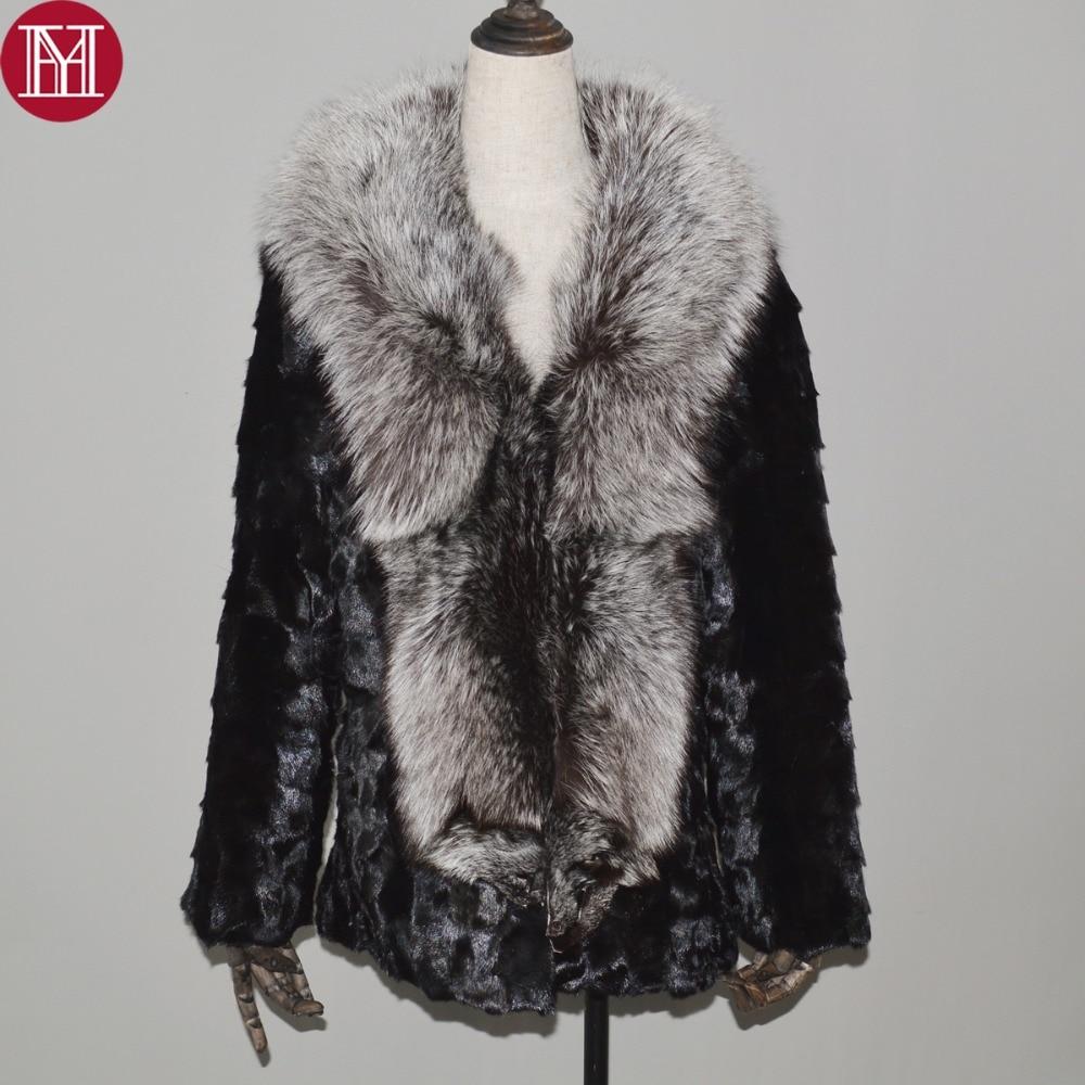 Manteau Ruban Naturel Hiver Col Black 100 Vison Fourrure Style Veste Femmes Renard De 2018 Nouveau Grand Réel CwvxSqq0t