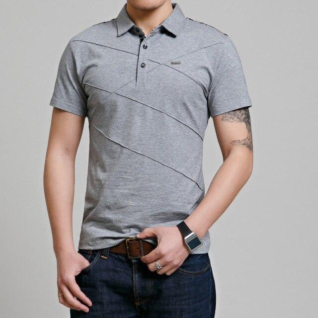 Design Brand 2019 New Summer   Polo   Shirts Short Sleeve Men Solid Color Plus Size M-3XL 4XL 5XL 6XL