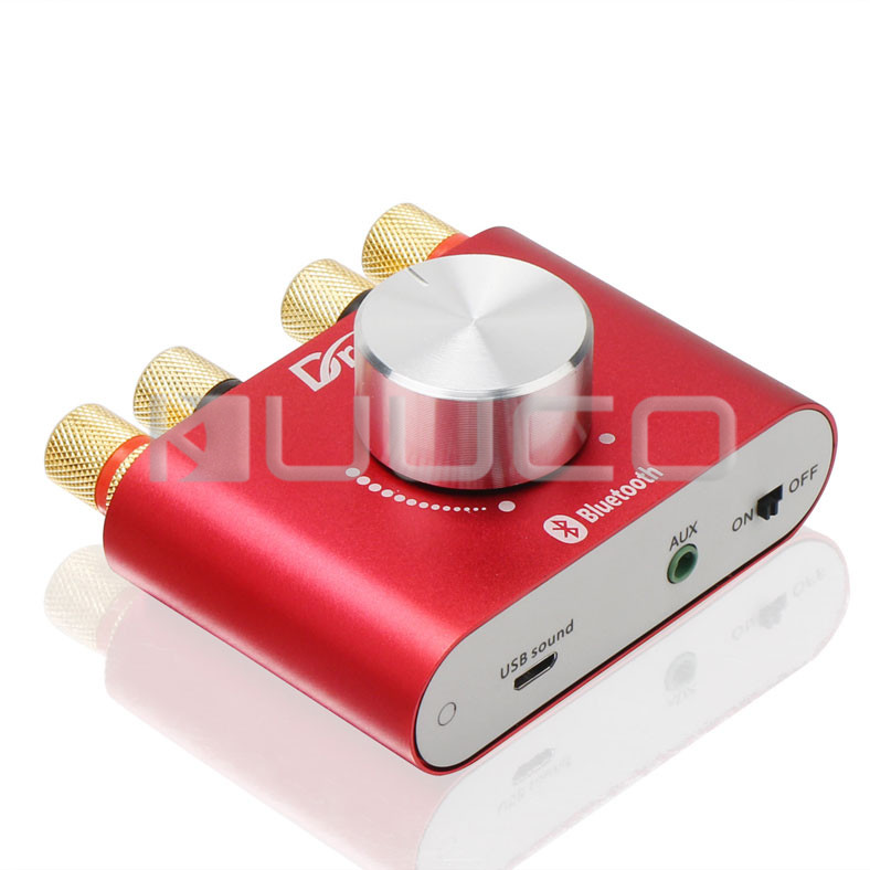 Mini Wireless Bluetooth Receiver 3.5mm AUX jack Audio Amplifier 30W+30W Dual channel Audio Amplifier for smart phone etc bluetooth 4 0 audio amplifier 30w 30w dual channel wireless bluetooth audio receiver amplifier for smart phone notebook product