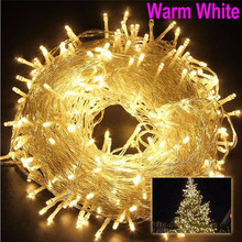 Christmas Outdoor String Lights Garland 5M 10M 20M 30M 50M 100M Waterproof LED Fairy Light for Wedding Party Xmas Holiday Light 50m 400 leds ac220v waterproof outdoor colorful led xmas christmas light for wedding christmas party holiday