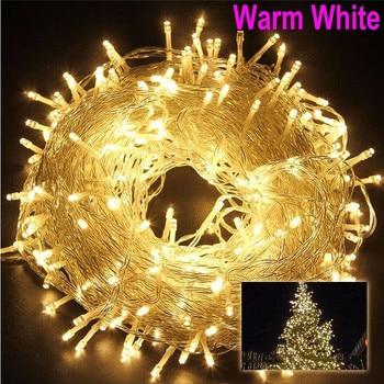 Weihnachten Im Freien String Lichter Girlande 5 M 10 M 20 M 30 M 50 M 100 M Wasserdichte LED Fee Licht Für Hochzeit Party Weihnachten Urlaub Licht