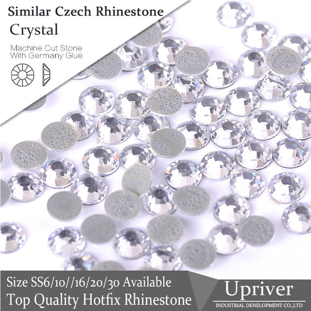 8deec49a319a2 1440pcs All Size Loose Strass Crystal Best Quality Bubble Glue More Shiny  Similar Czech Iron On Hotfix Rhinestones