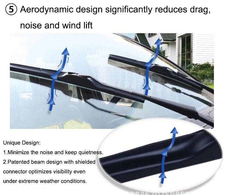 """Front aero plat faisceau upgrade pare-brise balais d/'essuie-glace 24/"""" 16/"""""""