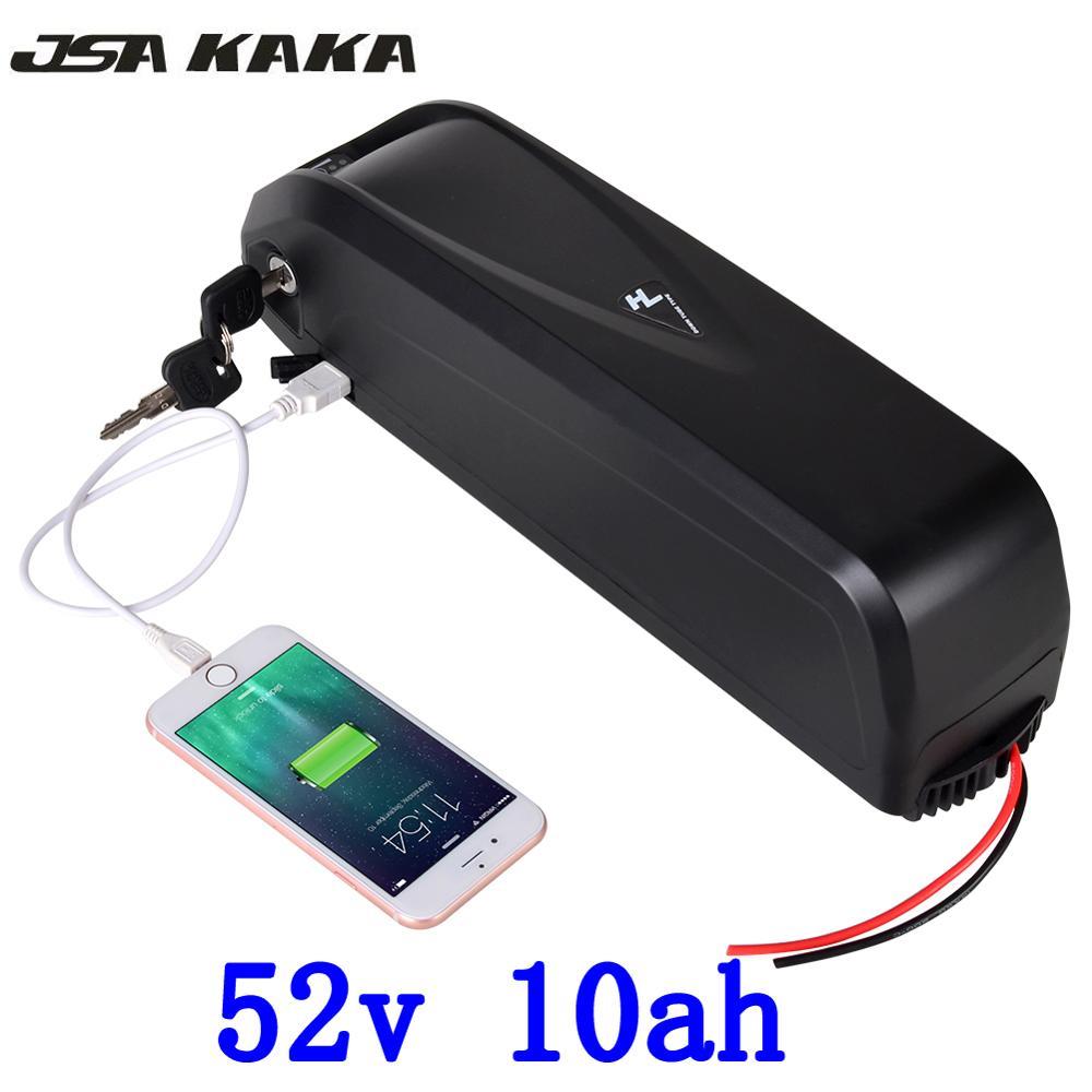 US EU pas de taxe 52 V 10AH avec 5 V USB vélo électrique bas Tube batterie pour 48 V 750 W 1000 W Bafang moteur gratuit