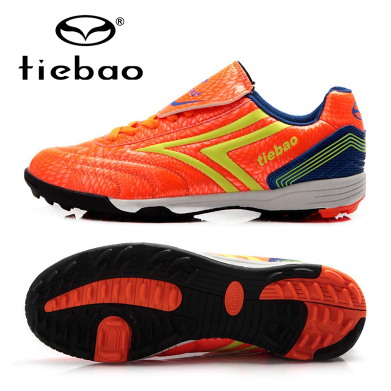TIEBAO Professional Brand Football Shoes Trainers TF Turf Soles Soccer Cleats Sneakers Original Football Boots for Kids Children tiebao new men outdoor grass soccer shoes cleats for adults children sports football shoes brand football boots male size 35 44