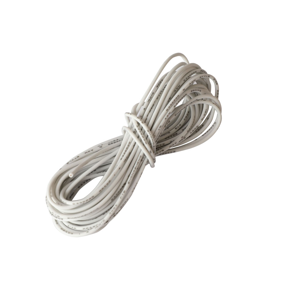 Hook up Stranded Wire 22 AWG with UL3132 Flexible Silicone Wire Rubber Insulated Tinned Copper 300V Electrical Wire for DIY in Wires Cables from Lights Lighting