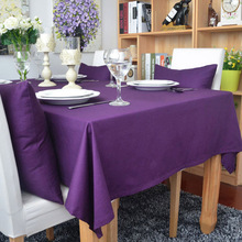 цена на WINLIFE 100% Cotton Tablecloth Pure Color Tablecloth for Wedding Stain Hot Selling Dust Proof Cloth Decorative Table Cloth