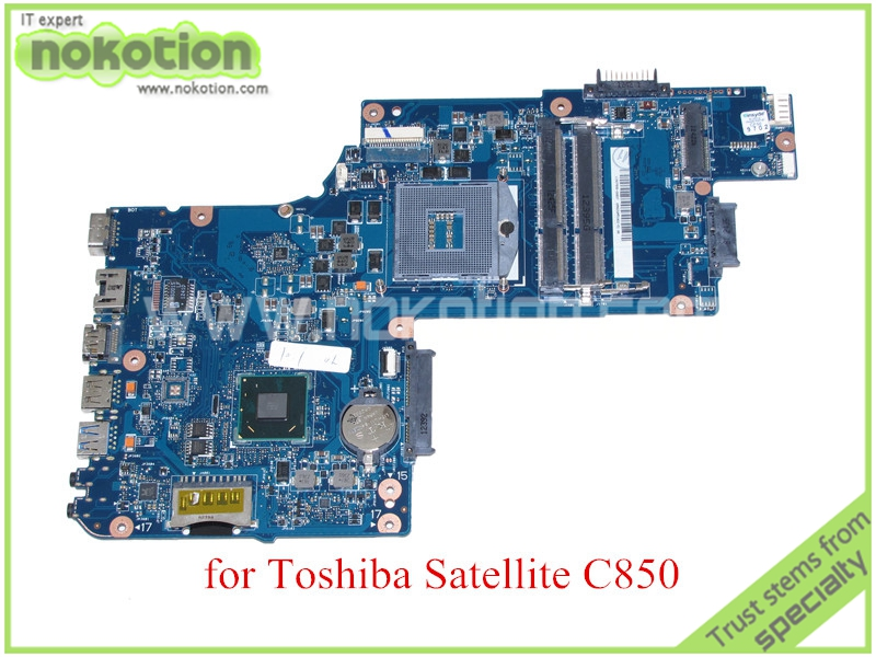 NOKOTION H000052590 Mainboard for toshiba satellite C850 laptop motherboard 15.6'' HM77 HD4000 Graphics DDR3 nokotion sps v000198120 for toshiba satellite a500 a505 motherboard intel gm45 ddr2 6050a2323101 mb a01