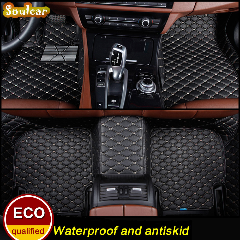 Custom fit Car floor mats for NISSAN TEANA Qashqai TIIDA GT-R NV200 FUGA Bluebird Murano MARCH 2004-2017 car floor carpet Liner free shipping one pair rhodium plated us mains power plug carbon fiber connector cable cord