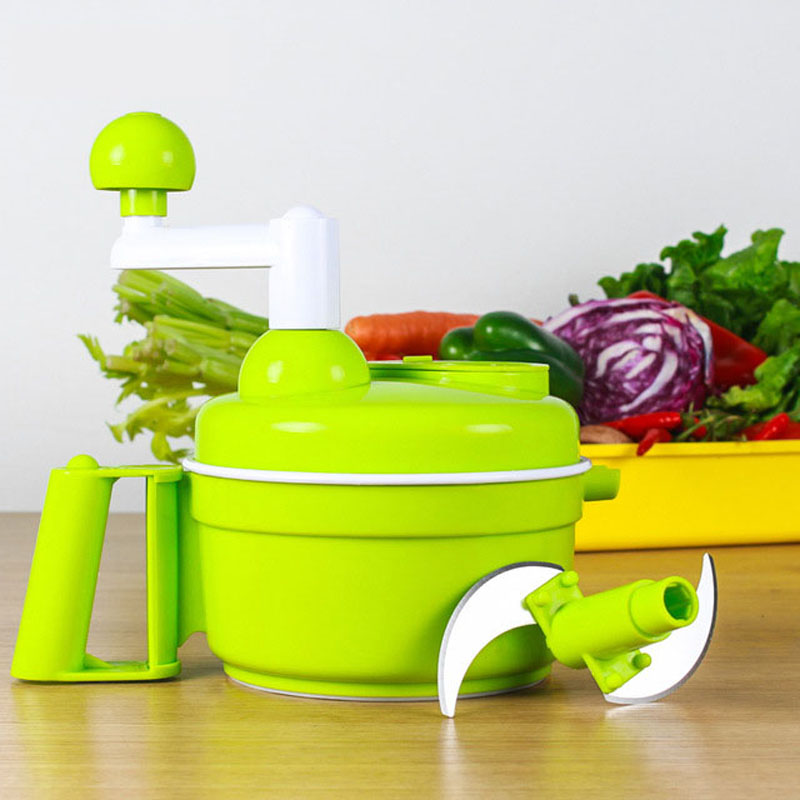 Multi-function Kitchen Manual Food Processor Household Meat Grinder Vegetable Chopper Quick Shredder Green Cutter Egg Blender hand cranked kitchen twisting vegetable fruit meat chopper blender tool green