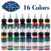 Fusion Tattoo Ink 16 Colors Set 1 Oz 30ml Bottle Tattoo Inks Pigment Kit For 3D