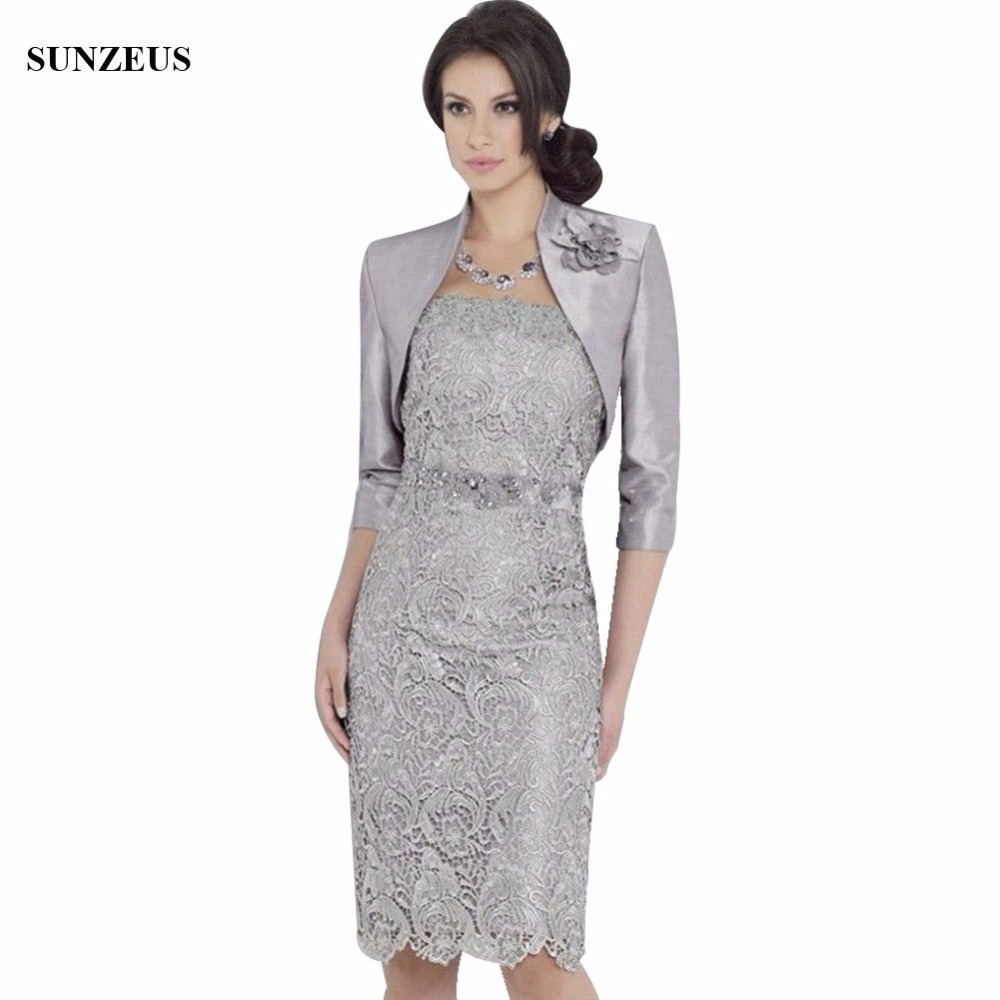 Sheath Knee Length Lace Mother Of The Bride Dresses With