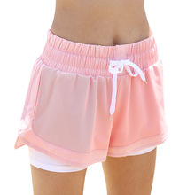 Women Quick Drying Yoga Double Layer Sport Short Outdoor Sports Fitness Gym Yoga Running Shorts short yoga intervention