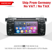Quad Core 2G RAM 16G ROM Car DVD Player Stereo Android 7 1 Car Radio Navigation