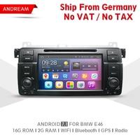 Quad Core 2G RAM 16G ROM Car DVD Player Stereo Android 7 1 Car Radio Navigation