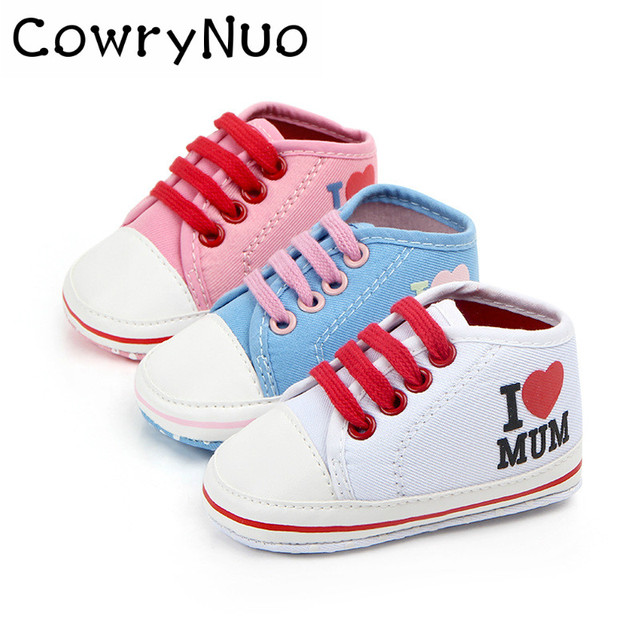 28b8b8ffda6cf Boy Girl Baby Shoes Love Mom Love Dad Casual Baby Shoes-in First ...