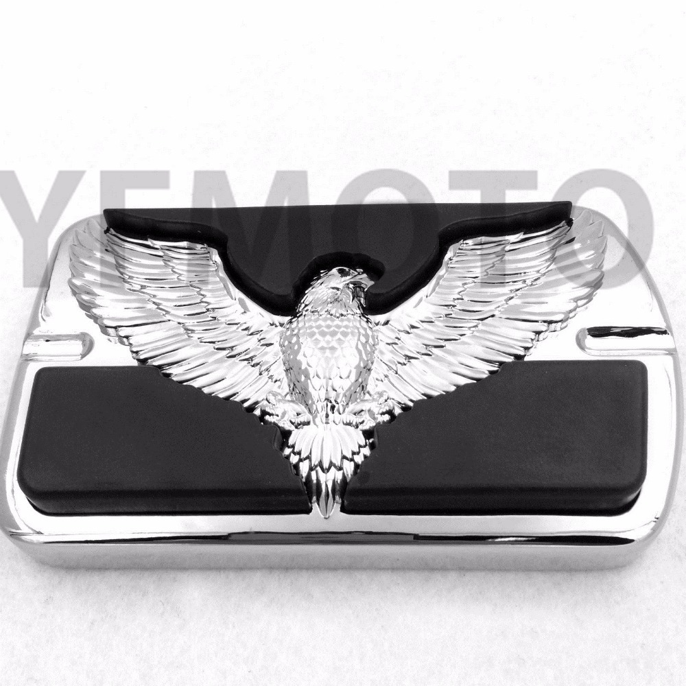 US $25 64 5% OFF|New Chromed Motorcycle Brake Pedal Pad Cover Foot Rests  Heavy Duty Billet Aluminum Soft Rubber Foot Pegs For Harley Davidson-in  Foot