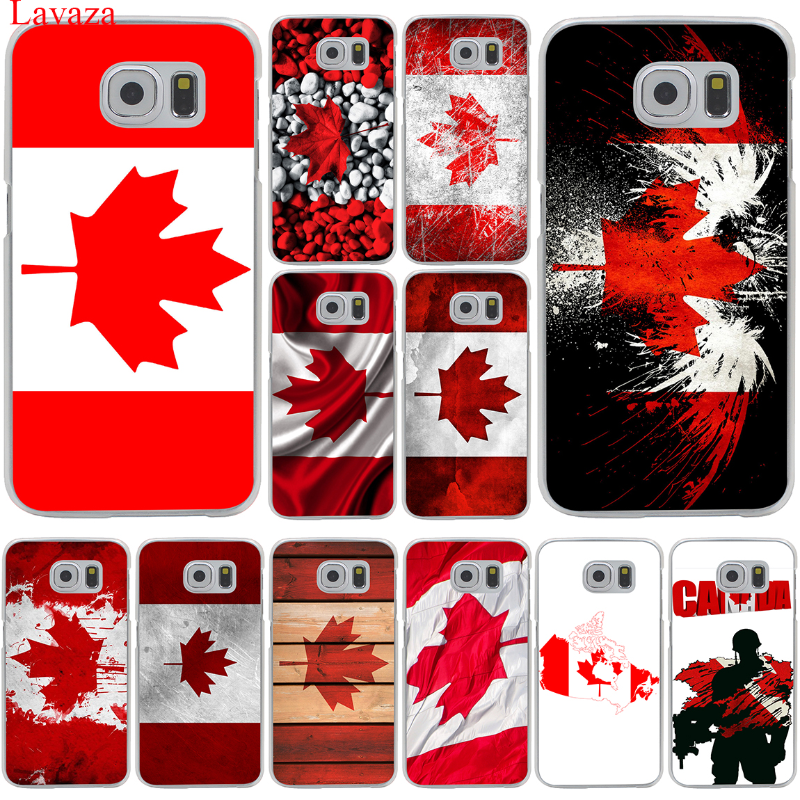 Canada flag toronto maple leafs Hard Transparent for Samsung Galaxy S6 S7 S8 Edge Plus S5 S4 S3 & Mini Case Cover
