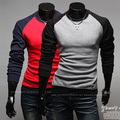 [Asian Size] 2016 New T shirt Men Brand Cotton Men's Long Sleeve T-shirt Mixed Colors O-neck Breathable Tops Tees Men