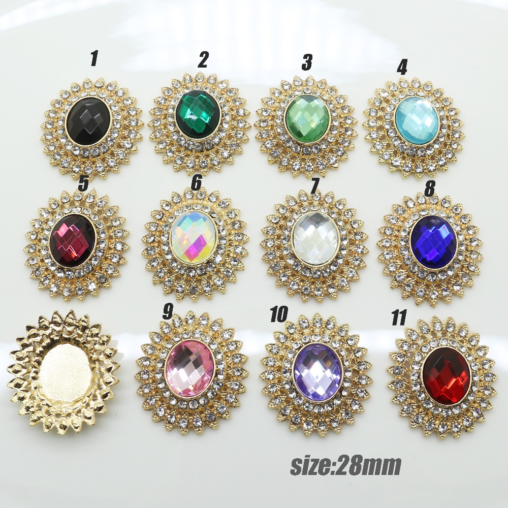 Detail Feedback Questions about New Year 10pc 25mm glass Crystal buttons  christmas crafts girl hair accessories shiny metal buttons DIY Wedding  decoration ... 7ed3600c3d3c