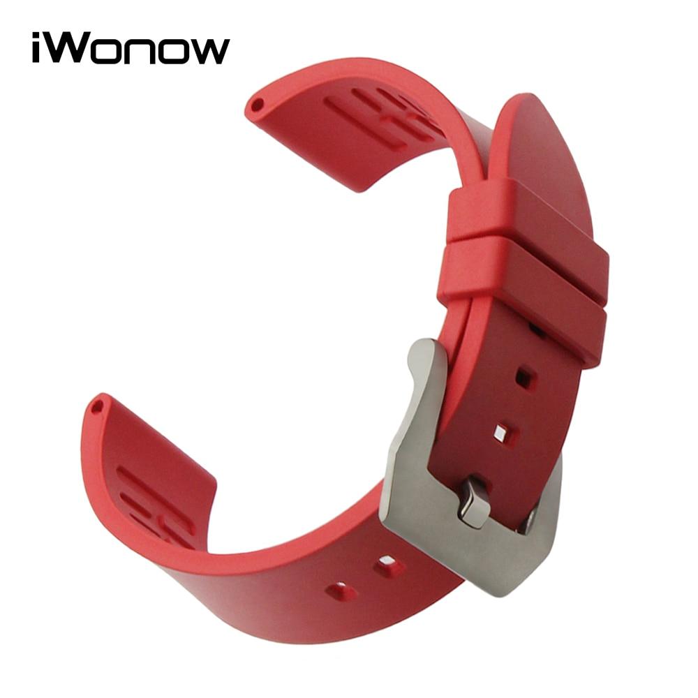цена  22mm 24mm Fluororubber Watchband for Mido Longines Tissot Luminox Panerai Rubber Watch Band Stainless Steel Buckle Wrist Strap  онлайн в 2017 году