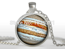 2017 New Rushed Collier Collares Maxi Necklaces Jupiter Necklace Planet Pendant Universe Galaxy Science Jewelry Glass Dome