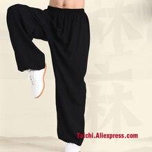 Льняные штаны Тай Чи, дышащие штаны для занятий боевым искусством, йогой, 5 цветов