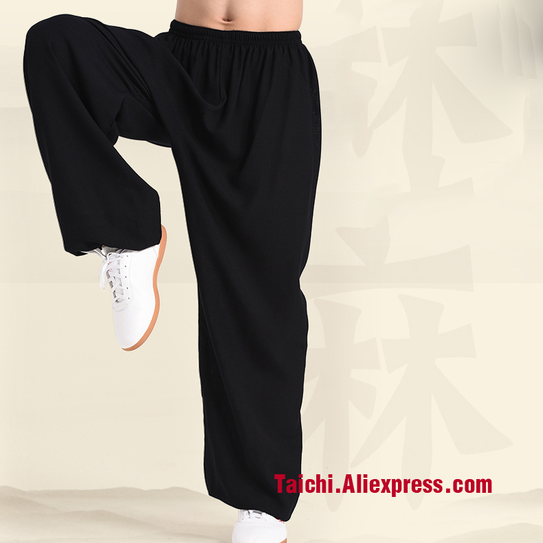 Flax Tai Chi  Pants  Breathable Martial Art  Yoga Trousers  5 Colors Free Shipiing