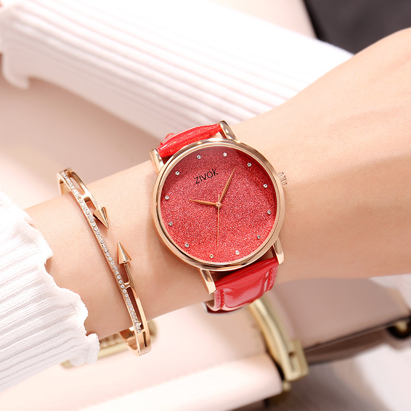 zivok Top Brand Luxury Ladies Watches Fashion Red Leather Female Quartz Watch Women Thin Casual Strap Watch Reloj Mujer longbo luxury brand fashion quartz watch blue leather strap women wrist watches famous female hodinky clock reloj mujer gift