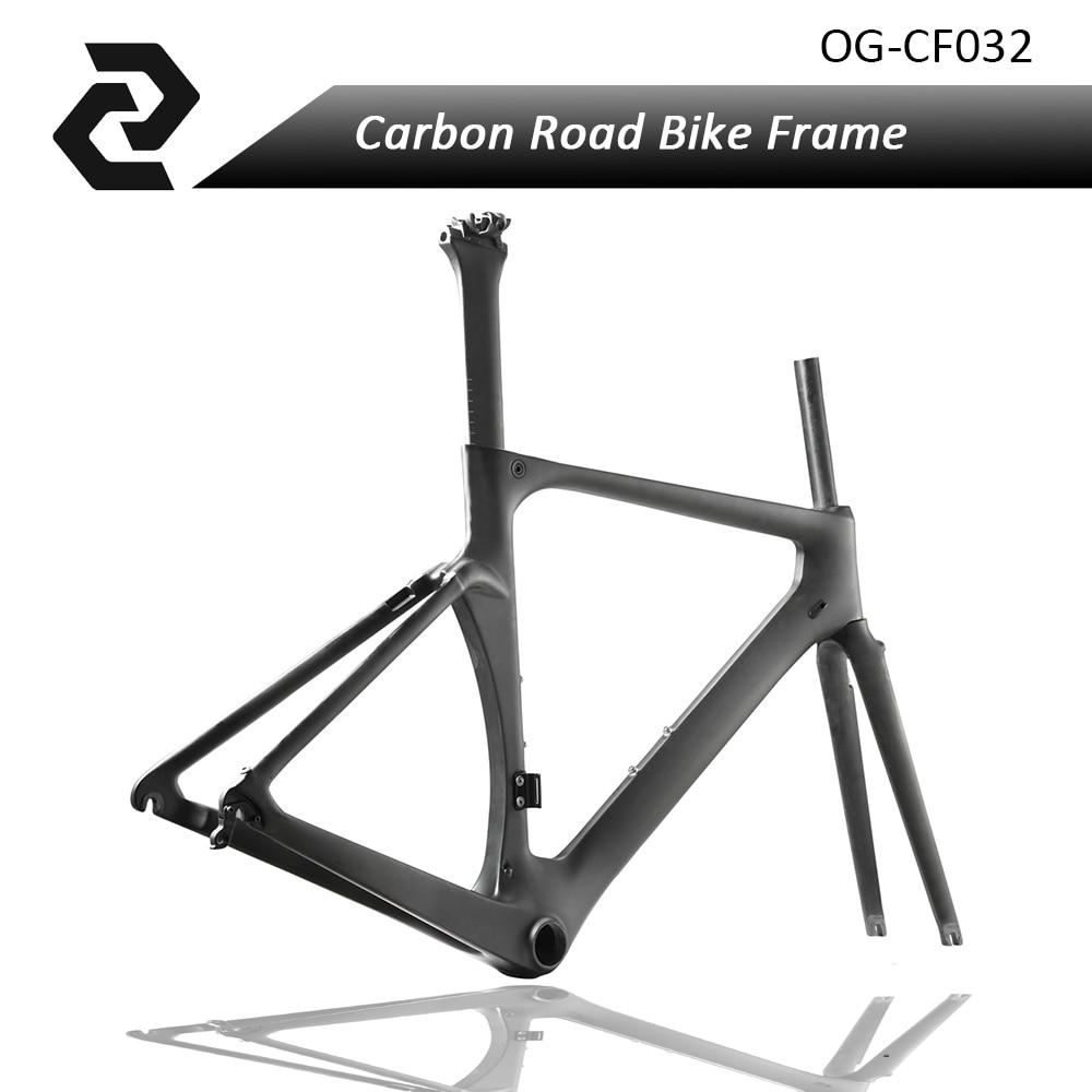 OG-EVKIN T800 Carbon Fiber Road Bike Frames 49 cm Bicycle Frames BB386 3K Glossy