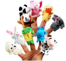 10 pcs lot christmas mini plush baby toy animal family finger puppets set fish australia princess