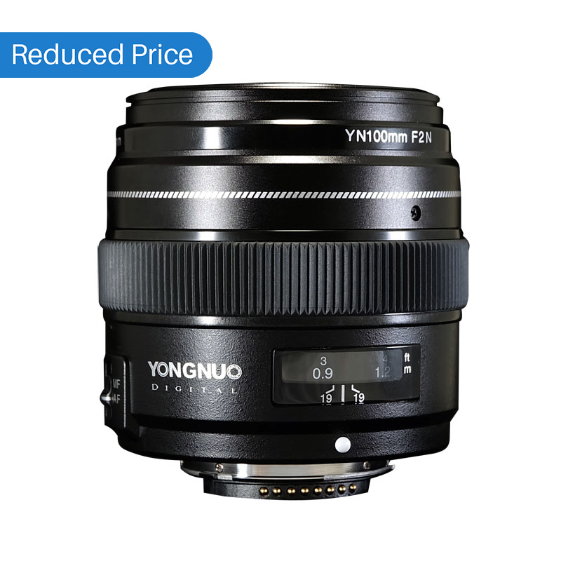 Ulanzi Yongnuo 100MM F2 Lens Large Aperture AF/MF Medium Telephoto Prime Lente YN100mm For Nikon D7200 D7100 D7000 D5600 yongnuo yn100mm f2 af mf medium telephoto prime lens fixed focal for canon eos rebel camera ef mounting port 600d 60d 80d 6d5d3