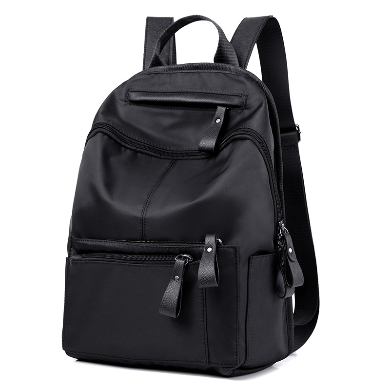 Korean Fashion Small Waterproof Nylon Women Backpack All Match Black Double Shoulder Back Bag 2017 Backpacks