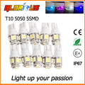 10 pcs LED T10 W5W 5050 5SMD Super Brilhante Branco Auto Side Wedge Tail Light Lamp T10 W5W LEVOU
