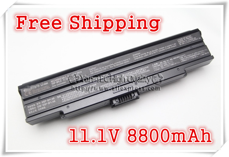 ФОТО Original Battery For VGP-BPL14/S Brand-new original For SonyVAIO BPS14/B BPS14/S BPL14/B 11.1V 8800MAH  Free shipping